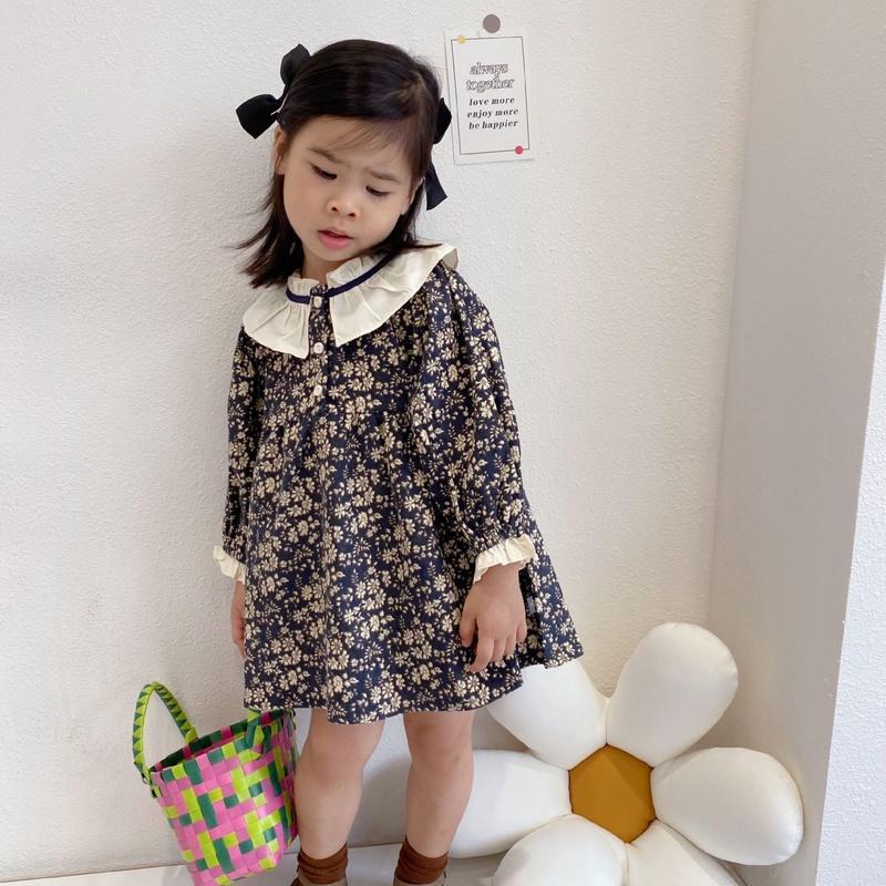 【KID】韓国風子供服 ベビー服  女の子 おしゃれ ワンピース 花柄