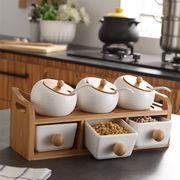 スパイスボックスの組み合わせ セット 家庭用 スパイスジャー セラミック 収納ボックス キッチン