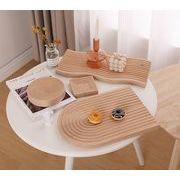 ウッドプレート トレイ ウェーブ アーチ 韓国インテリア コースター 木製