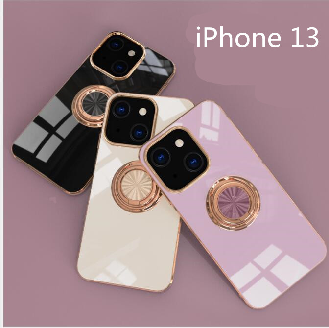 iPhone13ケース iPhone保護カバー ガラスフィルム付 バンカーリング スマホケース