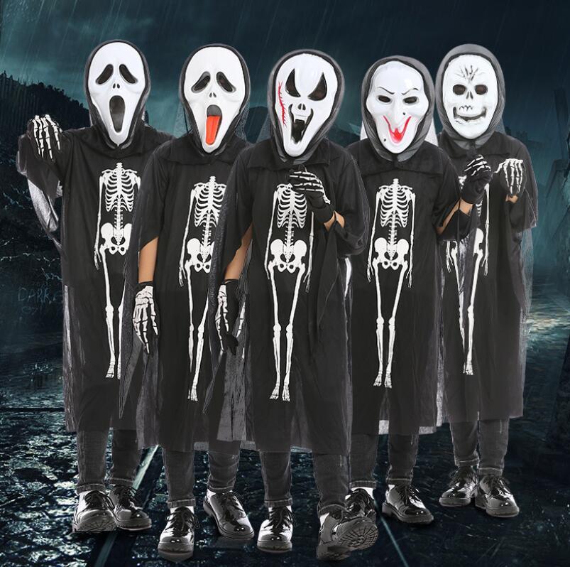 ハロウィーン衣装 子供服 Halloween コスプレ衣装セット マスク+手袋+服 コスチューム