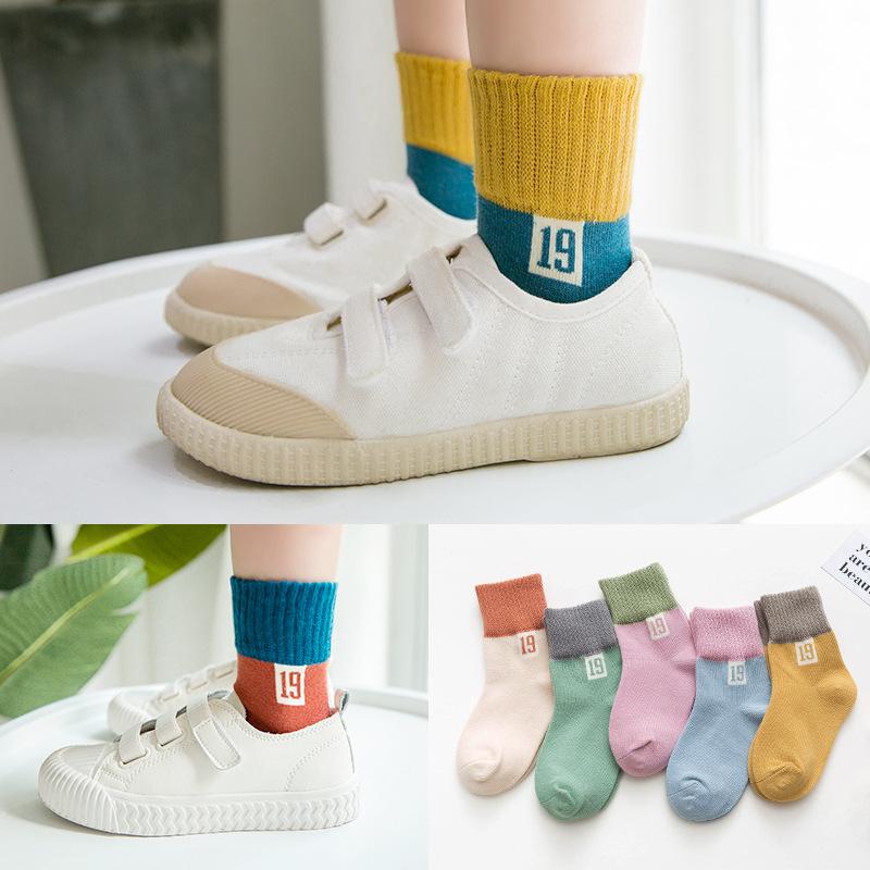 【KID】韓国風子供服 男女兼用 ソックス ins ファッション ニット 靴下 通気