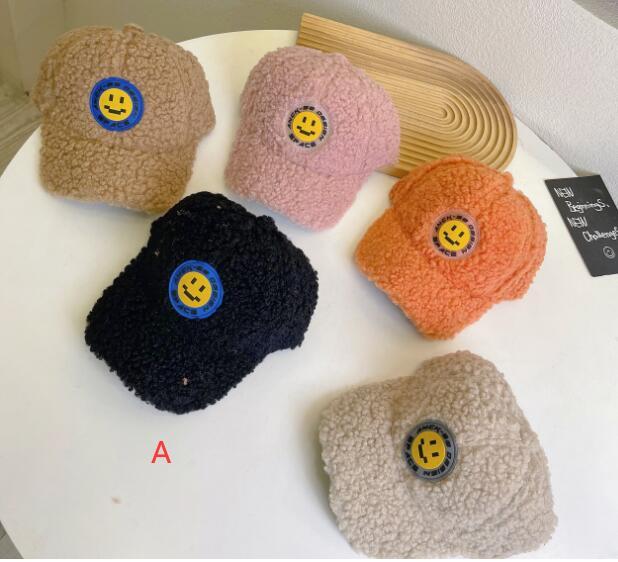帽子 キャップ 野球帽 キッズ 子ども 秋冬 モコモコ シンプル カジュアル トレンド 人気