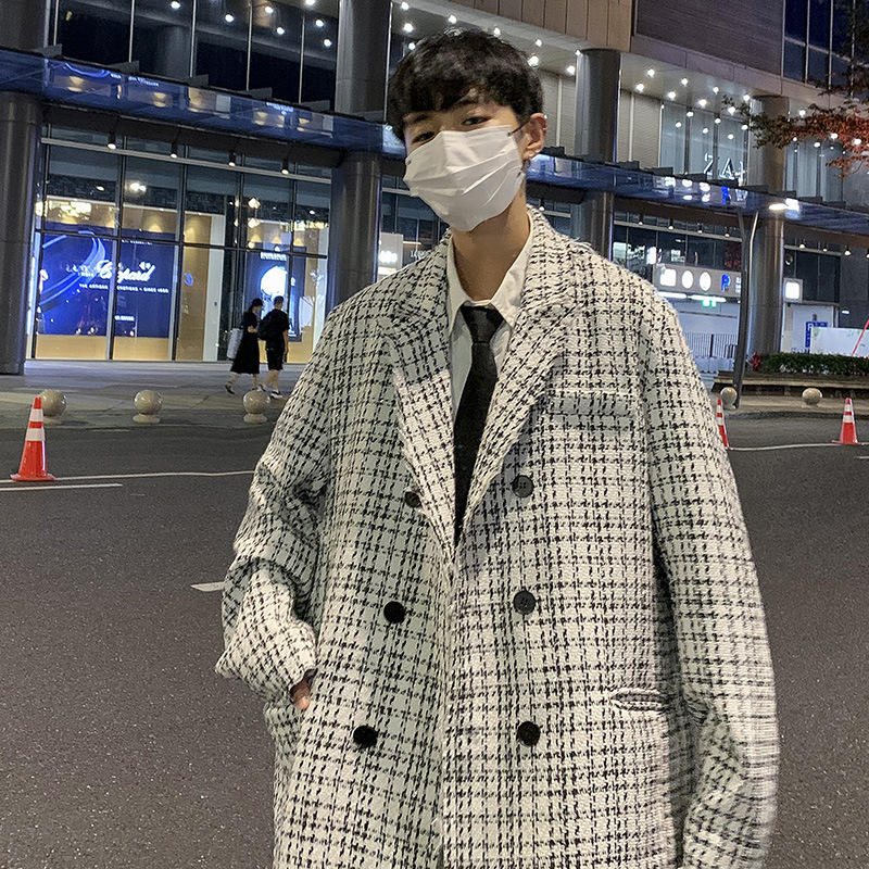 ユニセックス 韓国風 コート ジャケット アウター カジュアル 大きいサイズ ストリート系