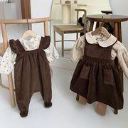【KID】韓国風子供服 ベビー服 女の子 コーデュロイ 長袖 セットアップ