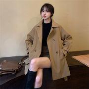 品質★カジュアルに女性らしさをプラス 新品 韓国風 デザインセンス トレンチコート ストリート 快適である