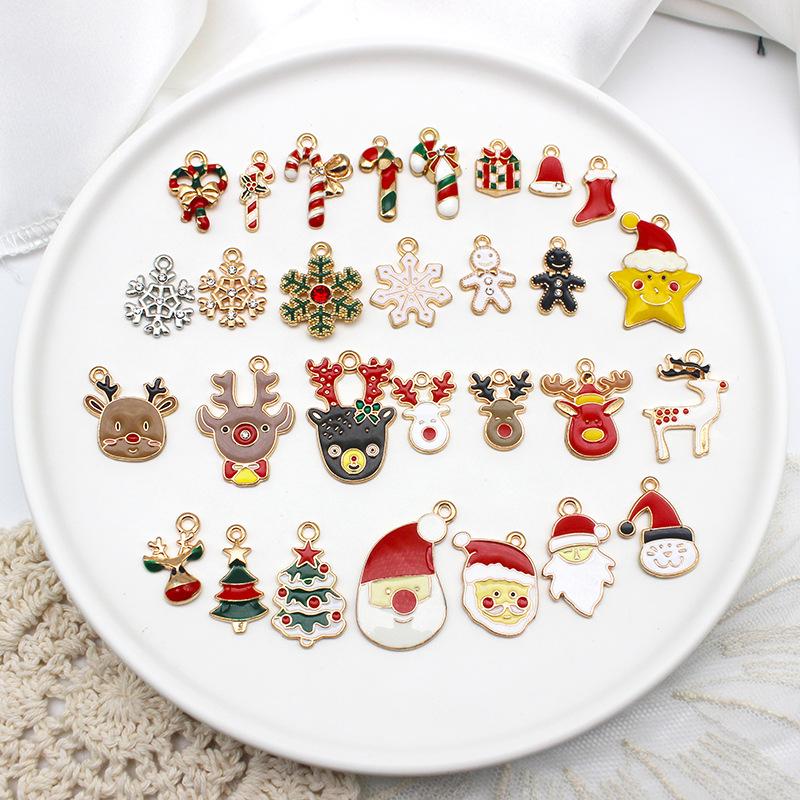 クリスマスツリー ハンドメイド トナカイ サンタクロース クリスマスリース アクセサリーパーツ 雪の結晶
