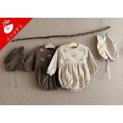 2021秋冬新作 韓国子供服 長袖ロンパース 女の子 男の子 ナチュラル ベビー服 子供連体服 カバーオール