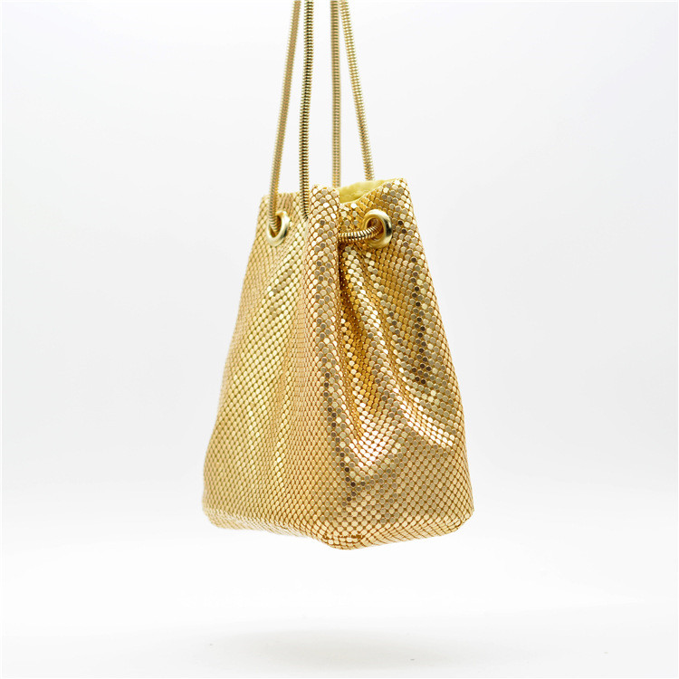 外出活動もおしゃれにINSスタイルファッション スパンコール ギャザリング ショルダーバッグ バケツバッグ