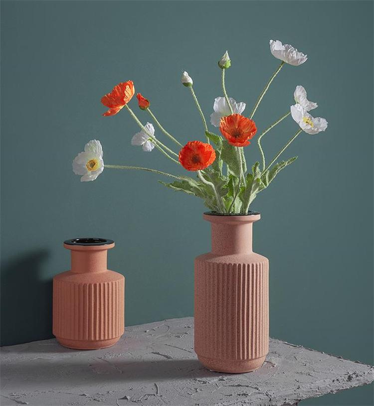 見ていてとても綺麗です INSスタイル 陶磁器 花瓶 つや消し マット釉薬  居間 フラワーアレンジメント