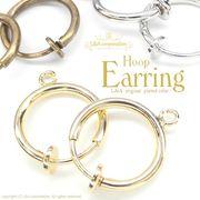 ★入数変更★L&A original earring★パイプイヤリングパーツ★フープイヤリング★たてカンろう付type★