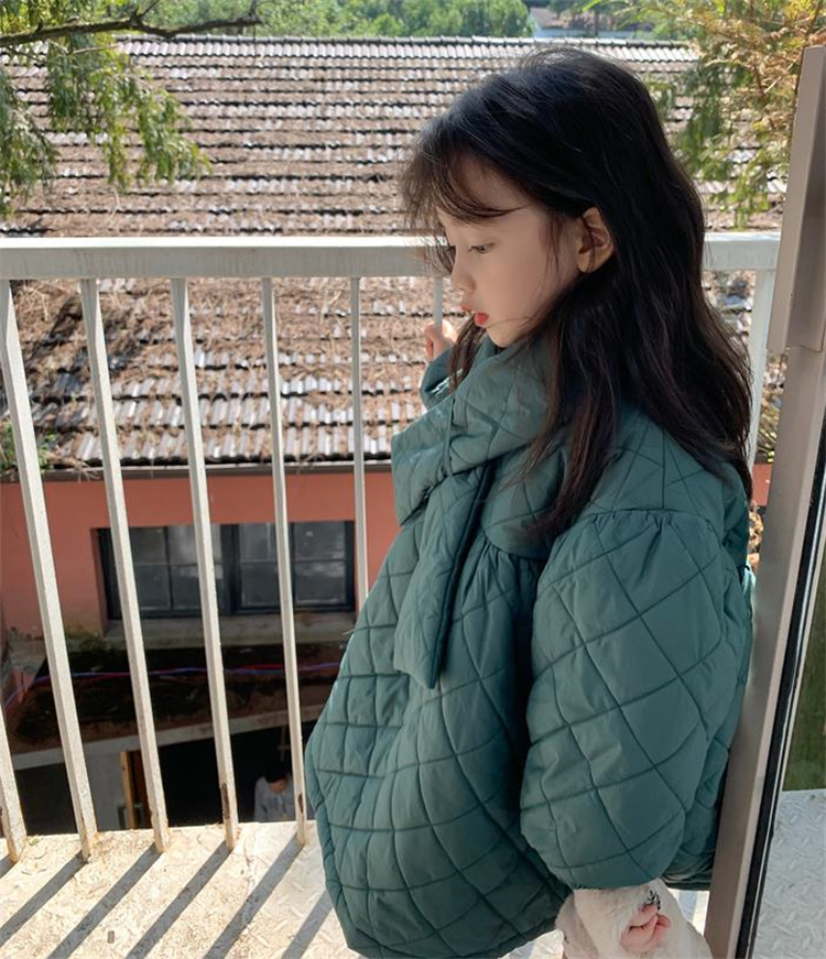 スタイルアップ効果も 韓国ファッション 綿の服 無料のスカーフ 快適である 綿のドレス 子供服