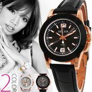 【ブレスレット感覚で使える♪】★レディース・ピンクゴールドMIX腕時計【保証書付】