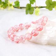 手彫り〈ピンク龍〉水晶(10mm)ブレスレット