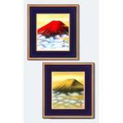 葛谷聖山(梅月)色紙額 1211740・赤富士
