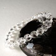 <スクリュー>彫刻水晶(8mm)ブレスレット