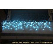LEDイルミネーション、アイシクル(ツララ)、常点、プロ仕様(V4)、140球、アクアブルー