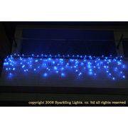 LEDイルミネーション、アイシクル(ツララ)、常点、プロ仕様(V4)、140球、ブルー