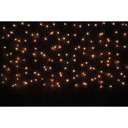 LEDイルミネーション、アイスクルカーテン、常点150球、オレンジゴールド