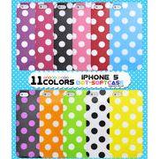 カラフルな11色展開! iPhone5/5s/SE専用カラードットソフトケース
