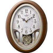 【新品特価品】リズム時計製 電波掛時計「スモールワールドセリーナ」4MN519RH06