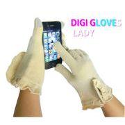 着けたままスマートフォンの画面操作ができるあったか デジグローブ(女性用)/iPhone iPad スマホ手袋