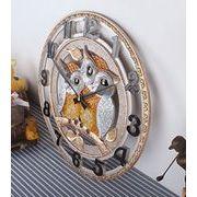 フクロウ  掛け時計a