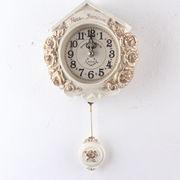 ティーニーローズ壁掛け振り子時計-ホワイト