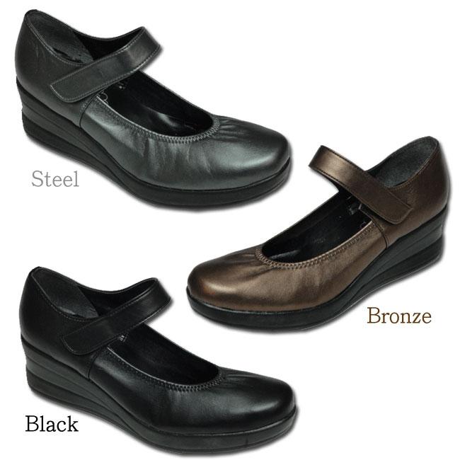 【大ヒット商品】ウェッジソールで美脚効果!厚底で歩きやすい日本製足裏マッサージパンプス