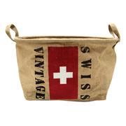 ジュート バスケット Swiss