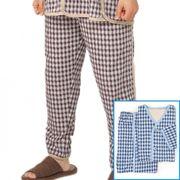 しるばあパラダイスパジャマ ズボン(紳士用)【オーガニックコットン使用】