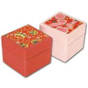 友禅紙折り紙 (豆) 赤系 100枚箱入