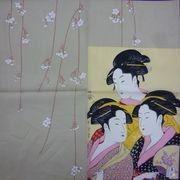 【外国人お土産シリーズ】京彩・日本画風シャンタンチーフ(インテリアにも最適です。)