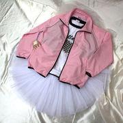 バレエ・ダンスジャケット/ピンク&青ウォームアップウエア上着.エクササイズウエア.ヨガ.フィットネス