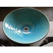 ブルーガラス釉 39cm 大