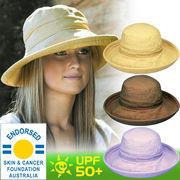 UVカット帽子 - レディース ハット- コットン カジュアル トラベラー