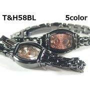 T&Hレディース腕時計 メタルウォッチ ガンメタ 日本製ムーブメント