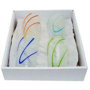 【感謝をこめて沖縄伝統工芸品を贈ります】泡涼風グラス4個ギフトセット