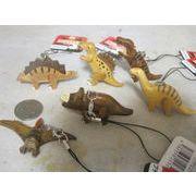 男の子に大人気 手作り 組み木の恐竜ストラップ
