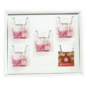 【感謝をこめて沖縄伝統工芸品を贈ります】陽桜泡盛グラス4個ギフトセット