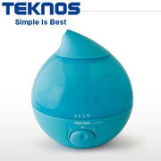 テクノス 滴型超音波加湿器 2.8L メレンゲ EL-C301-B ブルー