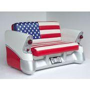 プロモーションドール【CAR SOFA USA】アメリカ国旗柄がかわいいアメ車型ソファ!