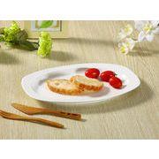 【強化】 楕円皿 ( 11号)  おうちカフェ/カレー皿/パスタ皿/白食器