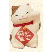 【ご紹介します!信頼の日本製!ちほっこりかわいい!ぎり和紙逆さ福招き猫】