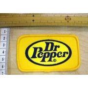 輸入ワッペン Dr Pepper ドクターペッパー 黄色