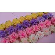 半透明 樹脂バラ12ミリ 4色から選べます。樹脂粘土バラ お花