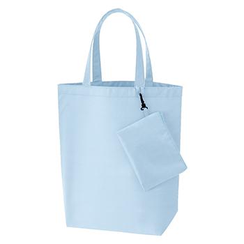 コンパクトバッグ(L)ポーチ付 / ライトブルー / トートバッグ A4 無地 エコロジーバッグ
