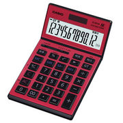 JS-201SK-RD-N カシオ 本格実務電卓 検算・税計算 ジャスト・スリムタイプ 12桁 レッド