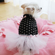 日本製  セレブスタイル  高品質ペットウェア 犬服のハートニットブラック  SS/S/M/MD-M/L