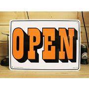 アメリカン雑貨 看板 プラスチックサインボード  Open/Closed(両面プリント) CA-21